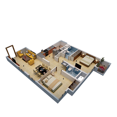 Mahendra Aarna Apartments in Electronic City Floorplan